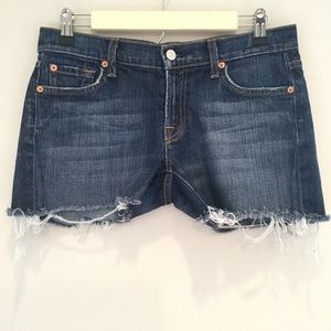 7 For All Mankind Cut Off Jean Shorts